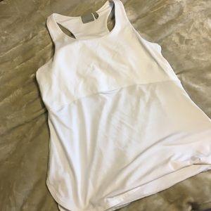 Athleta XL white padded tank EUC